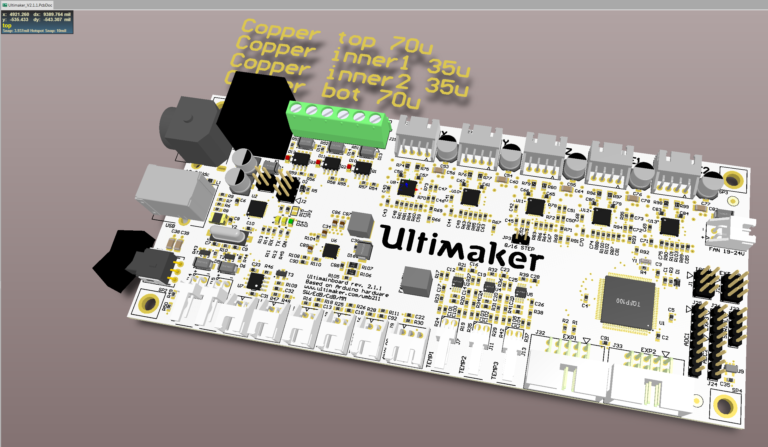Ultimainboard 211 Altium 3D view.png